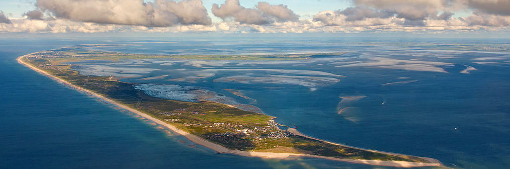 Luftansicht einer Nordseeinsel