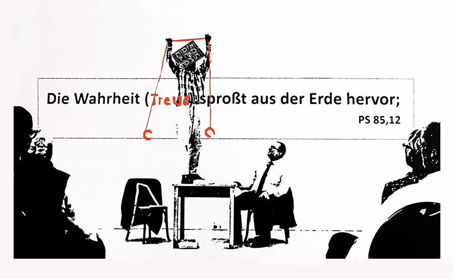 2-farbige Serigraphie von Felix Droese 'Exodis I'
