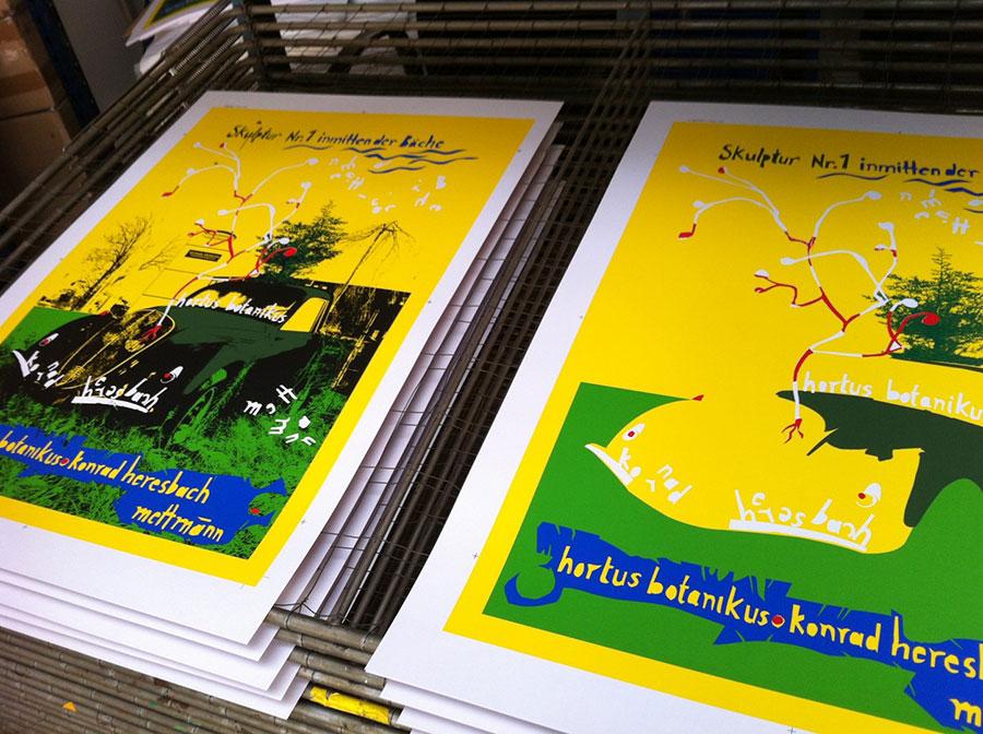 Serigraphien im Druck von Felix Droese