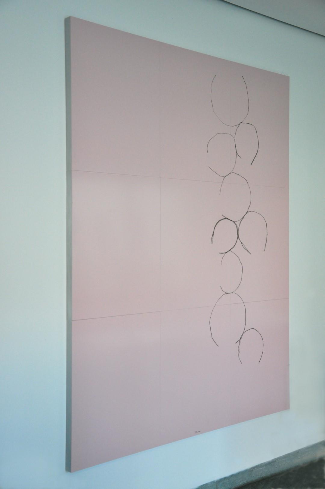 Erstes Bild aus der Ausstellung 'Dreiklang' von Jürgen Partenheimer in Berlin