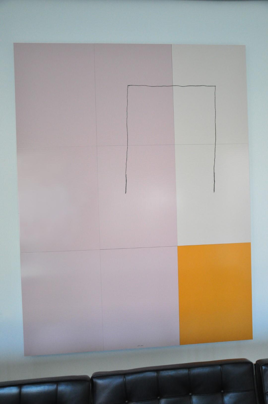 Zweites Bild aus der Ausstellung 'Dreiklang' von Jürgen Partenheimer in Berlin