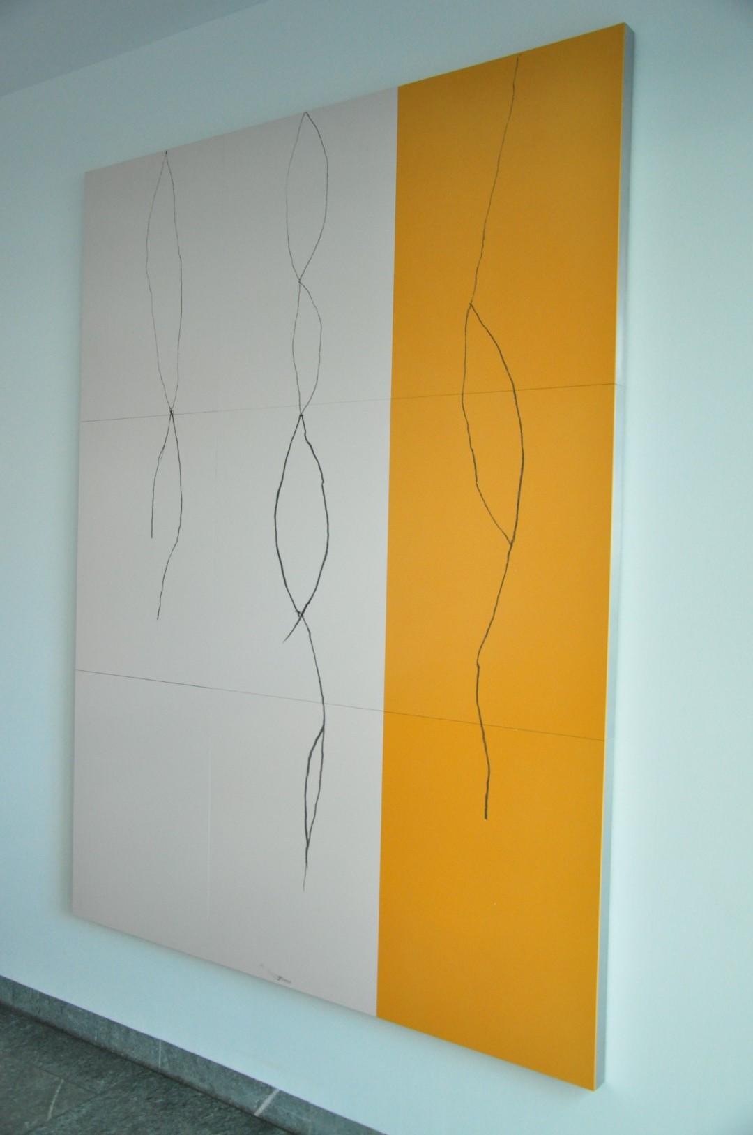Drittes Bild aus der Ausstellung 'Dreiklang' von Jürgen Partenheimer in Berlin