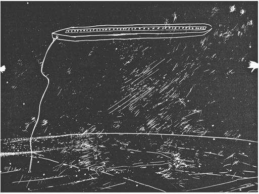 Felix Droese Serigraphie Aus dem kalten Nordenloche