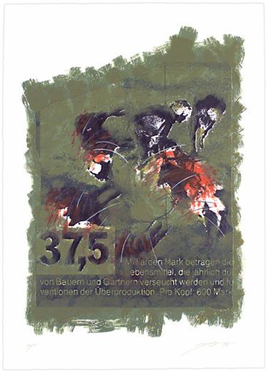 Serigraphie von Jo Oberhäuser in der Wattenmeermappe