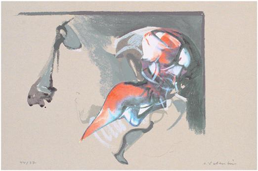 Hans Salentin Serigraphie 1995