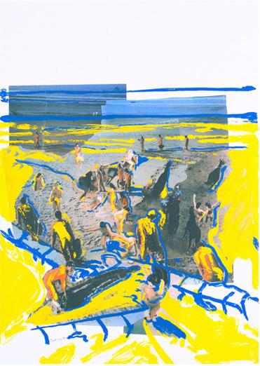 Serigraphie von Norbert Tadeusz in der Wattenmeermappe