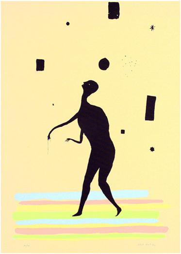 Serigraphie von Henk Visch in der Wattenmeermappe