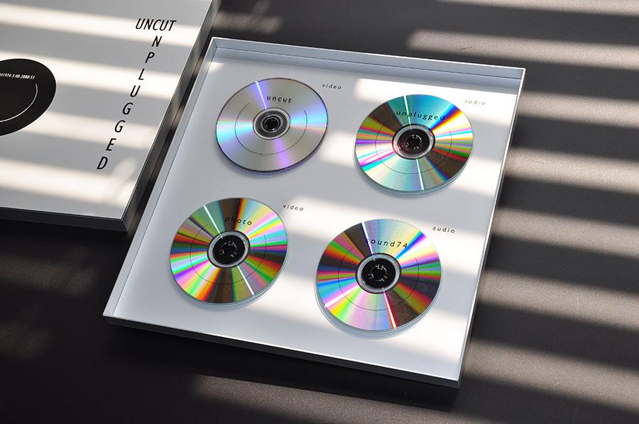 Offene Verpackung für vier CDs